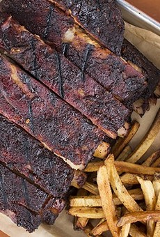 A full rack of ribs from BEAST Craft BBQ Co.