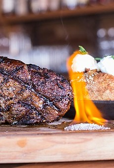 Bone-in ribeye at Hamilton's Urban Steakhouse & Bourbon Bar.