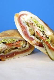 A Snarf's Italian sandwich.