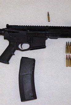 This Matrix AR15 5.56/.223 semi-automatic was recovered during the incident, St. Louis police say.