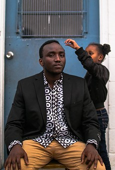 """Angerus """"Angelo"""" Imaniriho with his niece, Elvine Igeno."""
