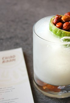 Chao Baan's My Thai is made with Plantation rum, lime and housemade peanut orgeat.