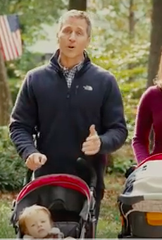 Sheena Greitens, shown with her husband in a campaign ad.