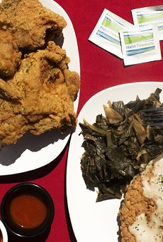 You can eat Miss Leon's famous fried chicken and help those in need this Sunday.