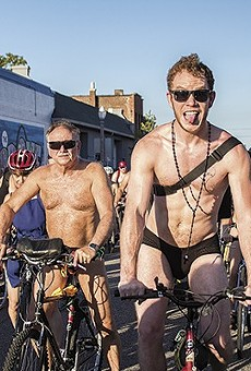 St. Louis' iteration of the World Naked Bike Ride is the third largest in the entire country.