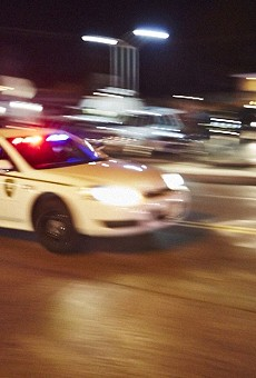 St. Louis County police (shown in archived photo) arrested six people between Sunday night and early Monday morning.