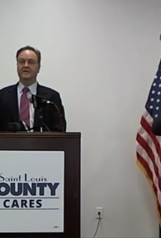 Sam Page announces free testing for St. Louis County residents.