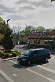 A 67-year-old man was with his grandson when he was carjacked in the lot of this McDonald's, St. Louis County police say.