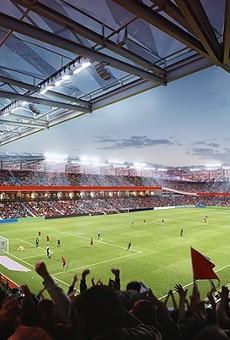 Rendering of St. Louis City SC's stadium.