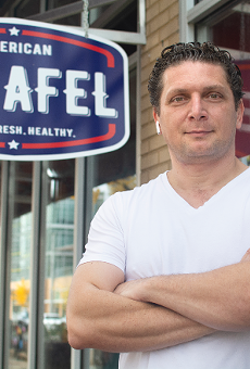 Mohammed Qadadeh left behind a successful career to follow his restaurant dreams at American Falafel.