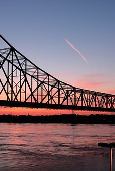 The Martin Luther King Bridge was temporarily blocked during a standoff this morning.