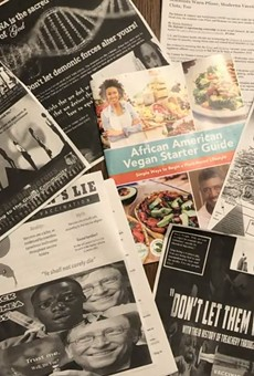 A few examples of the anti-vaccine literature that showed up in St. Louis this weekend.