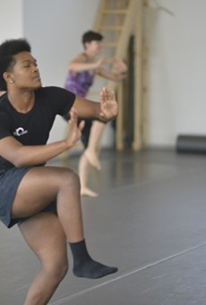 Participants of a previous year's St. Louis Barre Crawl dance in CKDC's studio.