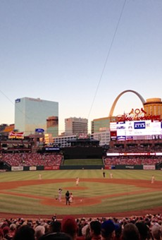 Some will be enjoying this view for free after getting their COVID-19 shot at Busch Stadium this week.