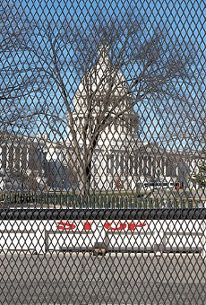 The U.S. Capitol, secured in the weeks after the siege.