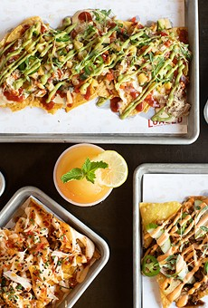 Loaded's definition of the nacho is expansive and delicious with versions such as toasted ravioli nachos, Hawaiian BBQ nachos, cannoli nachos, crab Rangoon nachos and banh mi nachos.