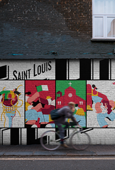A rendering of what the winning mural, painted by artist Jordan Bauer, will look like on a wall.