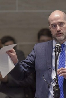 State Sen. Greg Razer, D-Kansas City, wants to know why an exhibit on LGBTQ history was removed from the Missouri Capitol.