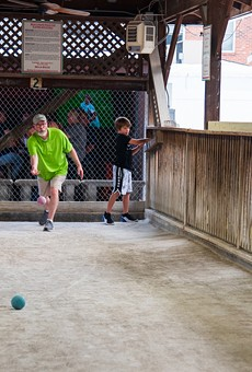 Play some bocce at Milo's Tavern, or just sit back and watch the neighborhood experts take the court.
