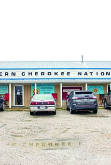 The Clinton, Missouri-based headquarters of the Northern Cherokee Nation.
