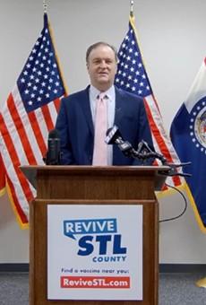 St. Louis County Executive Sam Page announces a new mask mandate.