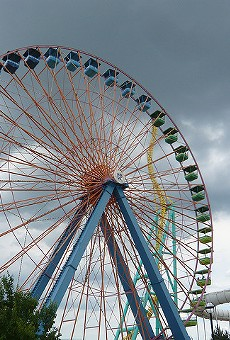 A Ferris wheel in Sandusky, Ohio.
