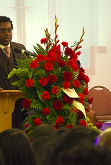 Speaking at Edward Crawford's funeral on May 15, attorney Jerryl Christmas told mourners he would continue fighting the Post-Dispatch for the rights to Crawford's photo.