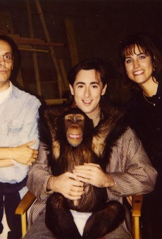 Actor Alan Cumming and Tonka (center) worked together in the 1997 movie Buddy.