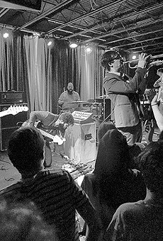 Foxing performed a sold-out show at the Firebird to celebrate the release of Dealer in December 2015.
