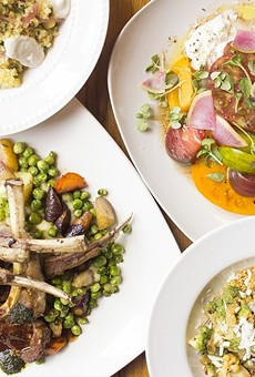 Highlights at Polite Society include citrus couscous, heirloom tomato salad, lamb chops and the Italian broccoli dish brassica affogati.