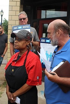 Lew Prince, right,  and Betty Douglas have been those fighting to save St. Louis' minimum wage increase from state preemption. A new group hopes to take a statewide increase to Missouri voters.