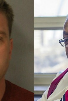 Former St. Louis officer Jason Stockley, left, was drilled on the stand by prosecutor Robert Steele — but held his ground.