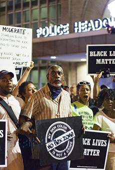 Protest at Police Headquarters Calls for Resignation of Chief O'Toole