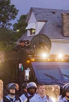 Police brought a heavy presence to a residential neighborhood after shooting Mansur Ball-Bey on August 19, 2015.
