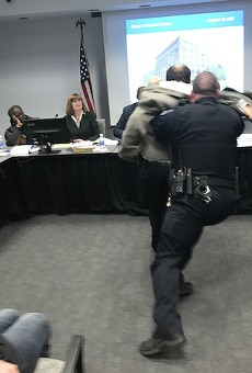 Steve Taylor, an instructor at St. Louis Community College's Wildwood campus, was slammed to the floor by a police officer on October 19, 2017.