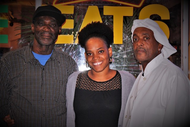 Owner Carlton Brackett, left, with daughter Latoy Brackett and brother Rohan Brackett. - PHOTO BY JESSY KINZEL