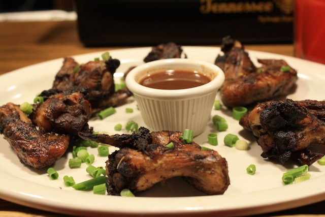 Jerk chicken wings. - PHOTO BY JESSY KINZEL