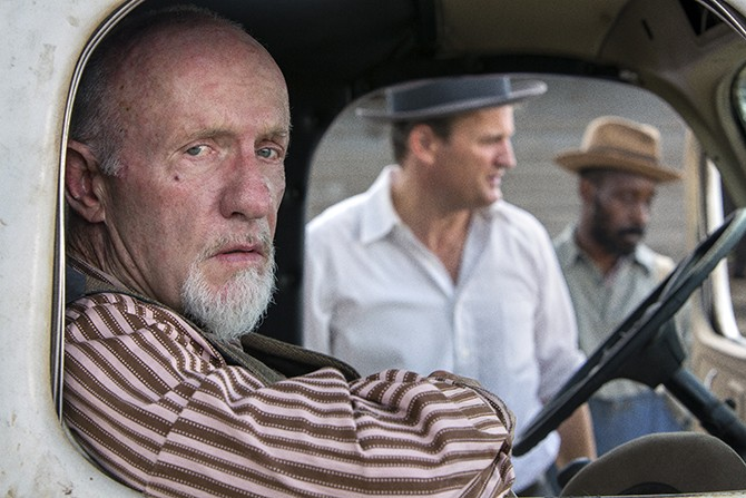 Jonathan Banks plays Pappy, the McAllans' virulently racist old man.