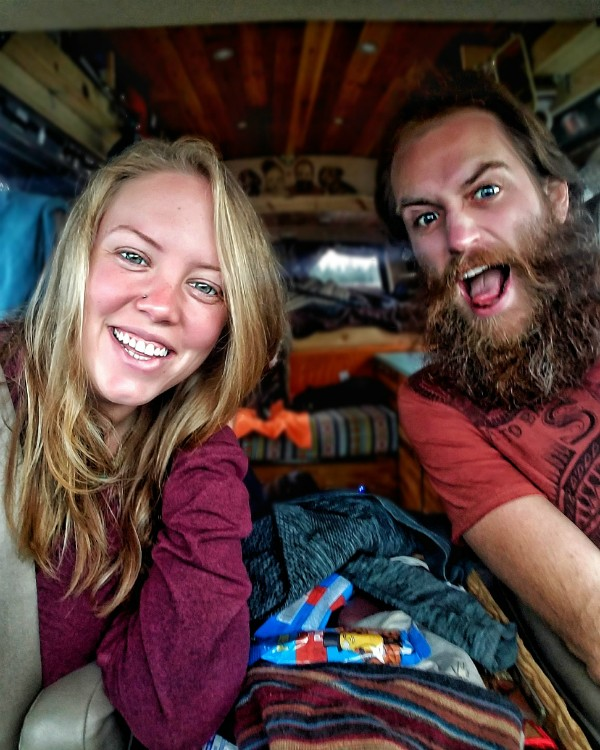 Jayme and John Serbell, who have been traveling the country in their van home for ten months, plan to sell their Afton home and make their new nomadic life together permanent. - COURTESY OF JOHN AND JAYME SERBELL