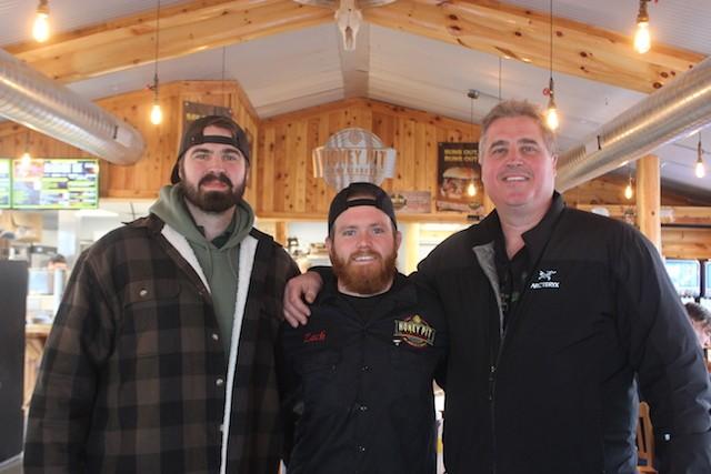 From left, Shane Mihaljevic Jr., Zach Fagas and Shane Mihaljevic Sr. - SARAH FENSKE