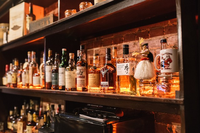The bar offers more than 80 kinds of whiskey. - SPENCER PERNIKOFF