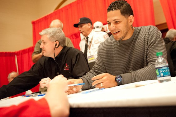 Meet some ball players at the Cardnials Care Winter Warm-Up. - JON GITCHOFF