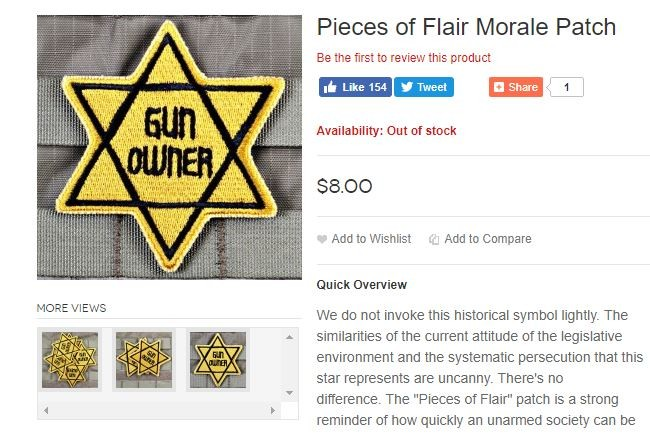Good thing this commodification of Holocaust imagery isn't being taken lightly. What a relief. - SCREENSHOT VIA TACTICALSHIT