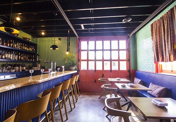 Nixta's bar area would be a great place to spend your Sunday, si? - MABEL SUEN