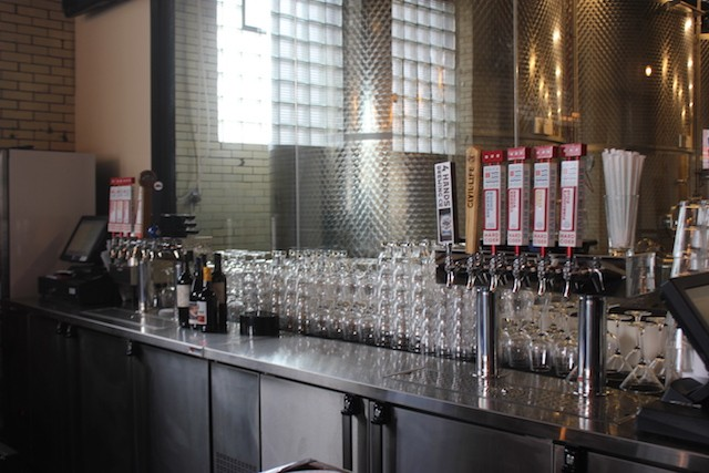 Four taps are devoted to cider and four to beer from area brewers. - SARAH FENSKE