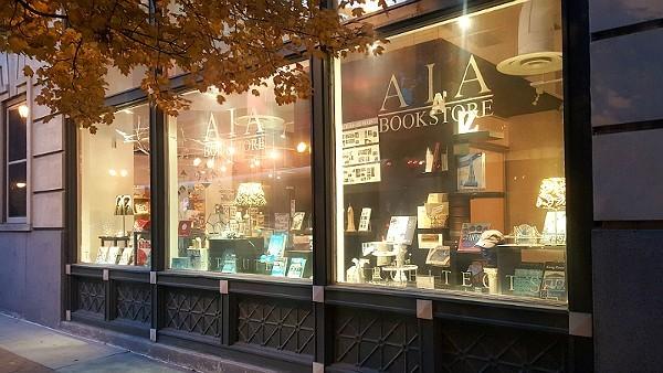 Bill Clinton paid the AIA Bookstore an unannounced visit in November. - ALLISON BABKA