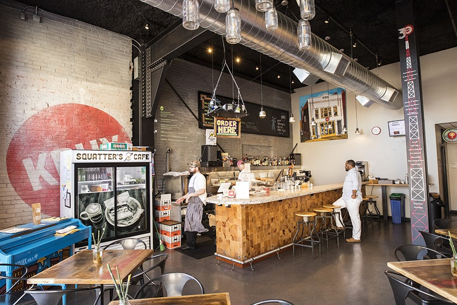 Squatter's Cafe is located on the bottom level of the KDHX building. - MABEL SUEN