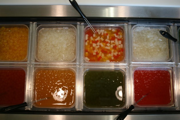 A variety of accoutrements are available for the bubble tea. - CHERYL BAEHR