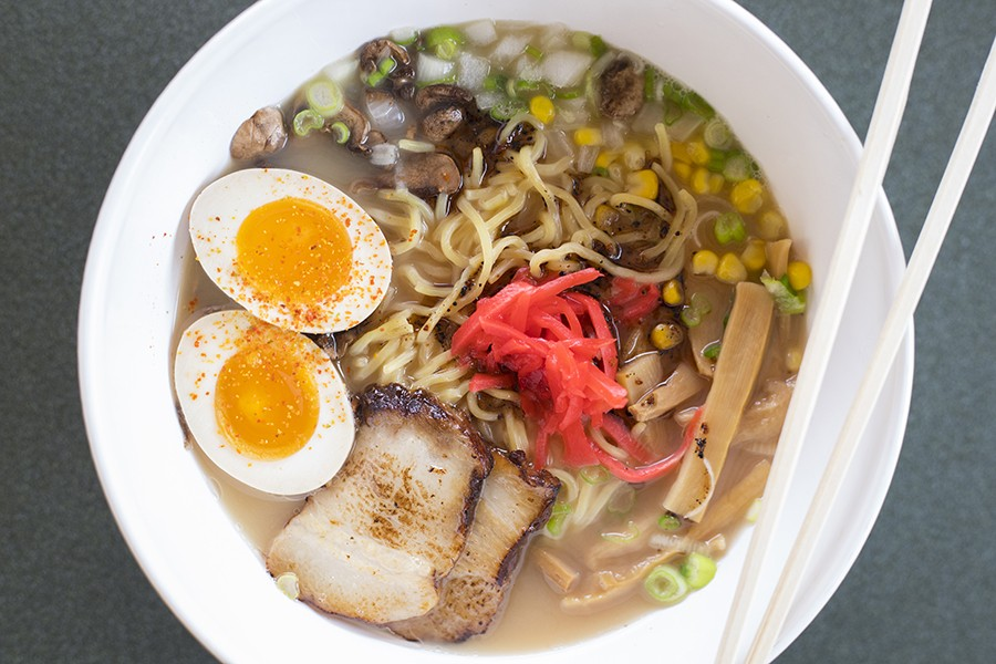 The tonkatsu ramen is lighter than the classic version, but still delicious. - MABEL SUEN