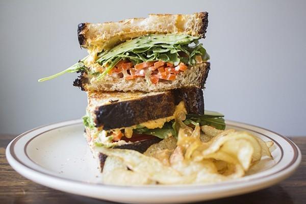 "Rise's signature ""lunch sandwich."" - MABEL SUEN"